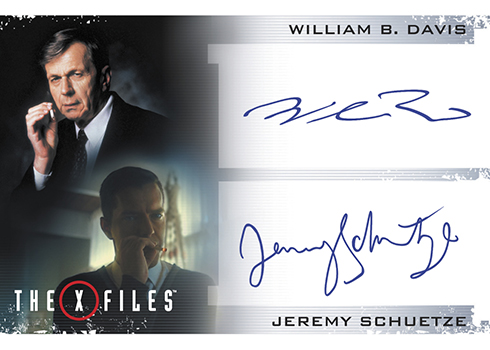 2018 Rittenhouse X-Files Seasons 10 and 11 Dual Autographs William B Davis Jersey Schuetze