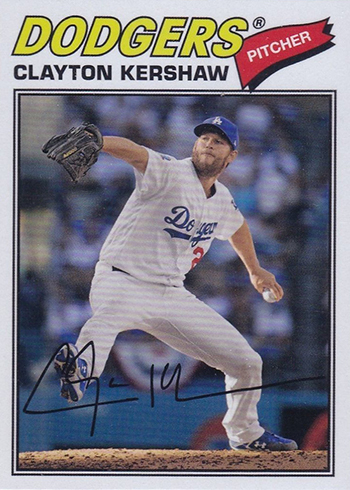2018 Topps Archives Baseball Variations Clayton Kershaw