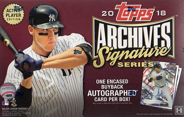 2018 Topps Archives Signature Series Baseball Hobby Box