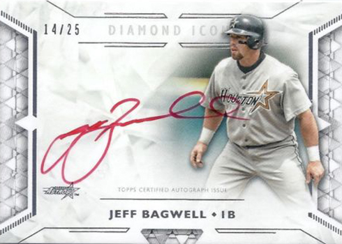 2018 Topps Diamond Icons Baseball Red Ink Autographs Jeff Bagwell