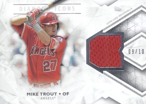 2018 Topps Diamond Icons Relics Mike Trout 10
