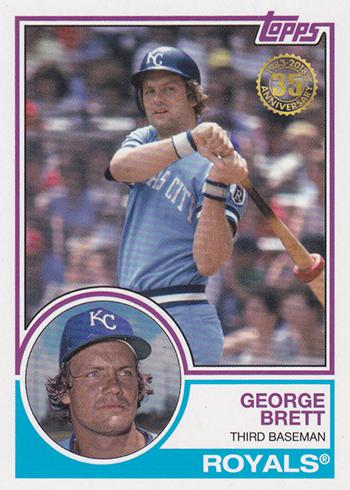 2018 Topps New Era Baseball 1983 Topps Baseball George Brett