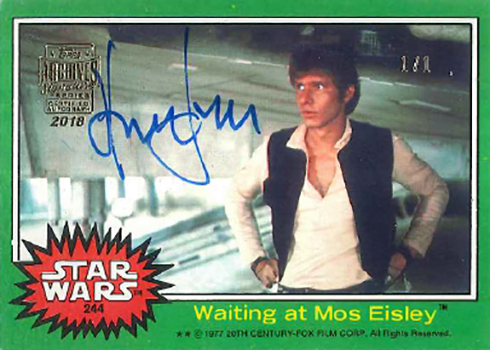 2018 Topps Star Wars Archives Signature Series Harrison Ford Autograph 1977 1