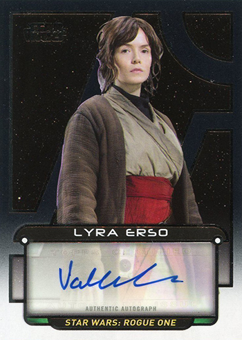 2018 Topps Star Wars Galactic Files Autographs Valerie Kane
