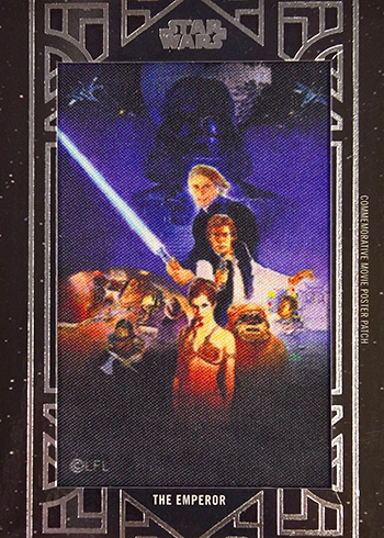 2018 Topps Star Wars Galactic Files Movie Poster Patch ROTJ The Emperor