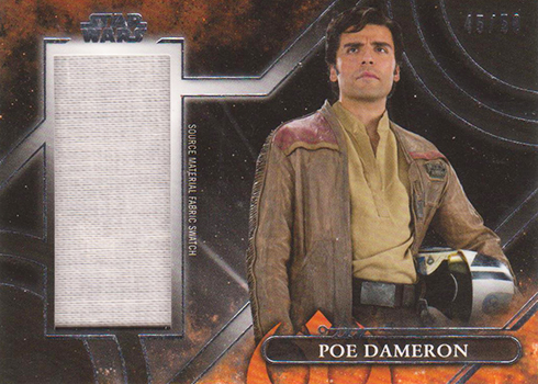 2018 Topps Star Wars Galactic Files Source Material Poe Dameron