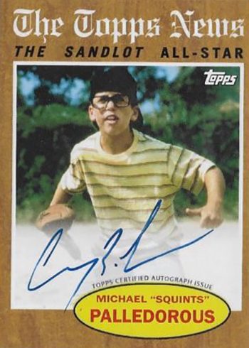 2018 Topps The Sandlot SLA-MP Michael Squints Palledorous NSCC Autograph