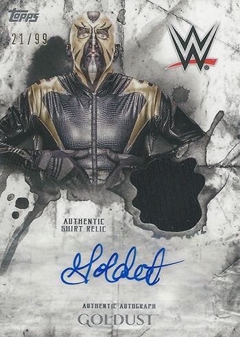 2018 Topps WWE Undisputed Autograph Relic Goldust