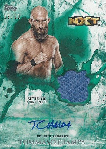 2018 Topps WWE Undisputed Autograph Relic Green Tommaso Ciampa