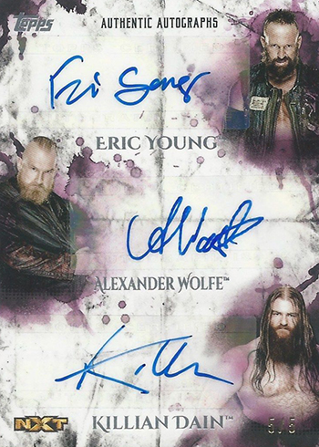 2018 Topps WWE Undisputed Triple Autographs Sanity 5