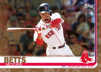 2019 Topps Series 1 Baseball Camo Mookie Betts