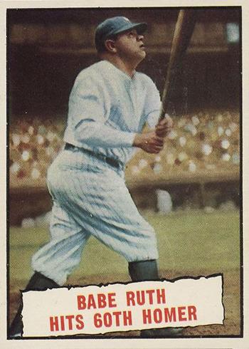 1961 Topps Babe Ruth 60th Home Run