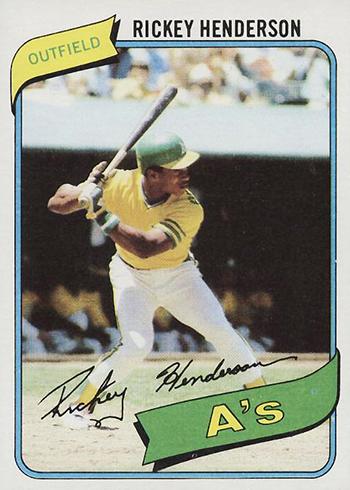 1980 Topps Rickey Henderson RC
