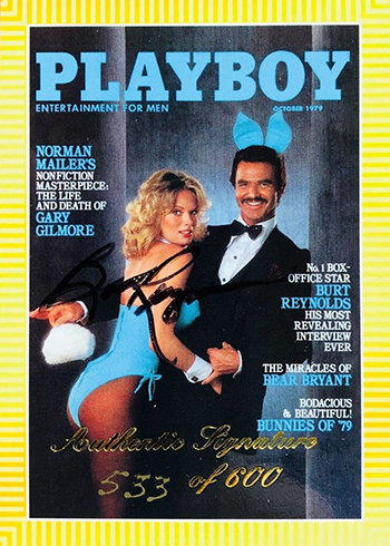 1995-98 Playboy Chromium Covers Autographs Burt Reynolds