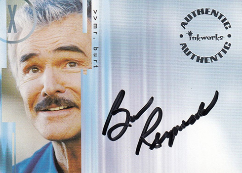 2003 Inkworks X-Files Season 9 Autographs Burt Reynolds