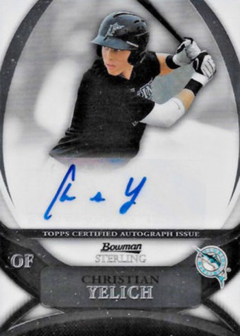 2010 Bowman Sterling Christian Yelich Autograph