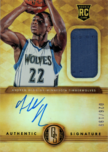 2014-15 Panini Gold Standard Andrew Wiggins