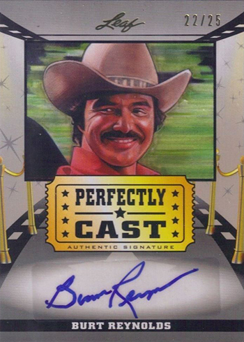 2014 Leaf Pop Century Perfectly Cast Autographs Burt Reynolds