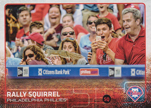 2015 Topps Update Phillippe Aumont SP Rally Squirrel