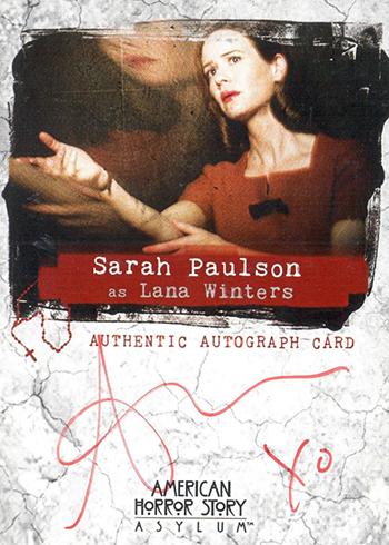 2016 AHS Asylum Autographs Sarah Paulson