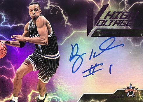 2017-18 Panini Vanguard Basketball High Voltage Signatures Purple Anfernee Hardaway