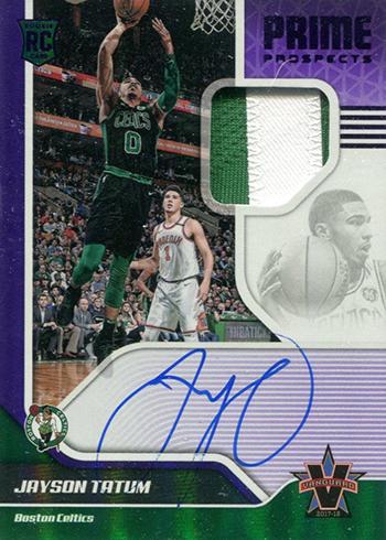 2017-18 Panini Vanguard Basketball Prime Prospects Purple Jayson Tatum