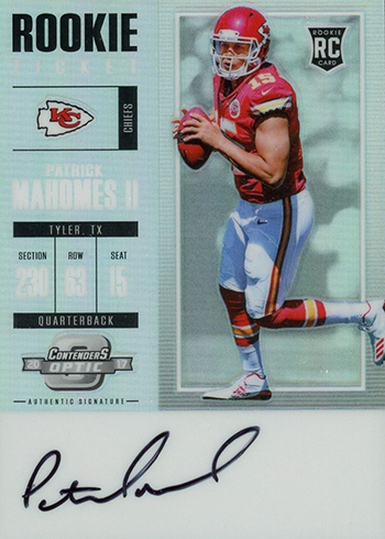 2017 Panini Contenders Optic Patrick Mahomes Rookie Card