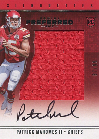 2017 Panini Preferred Patrick Mahomes RC