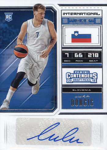 2018-19 Panini Contenders Draft Picks Basketball Luca Doncic Autograph