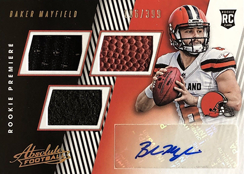 2018 Absolute Baker Mayfield RC Auto Mem