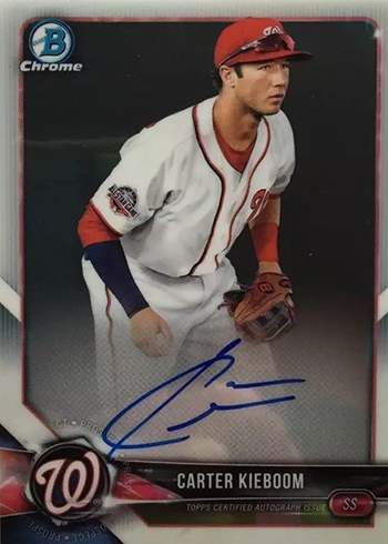 2018 Bowman Chrome Autographs Carter Kieboom