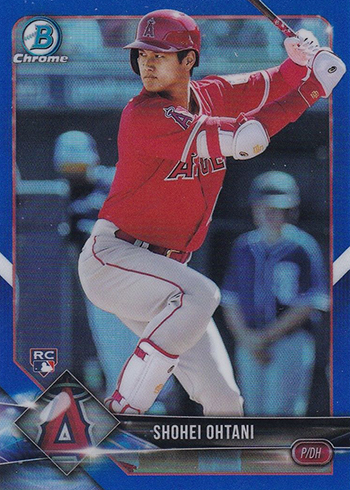 2018 Bowman Chrome Baseball Shohei Ohtani Blue Refractor