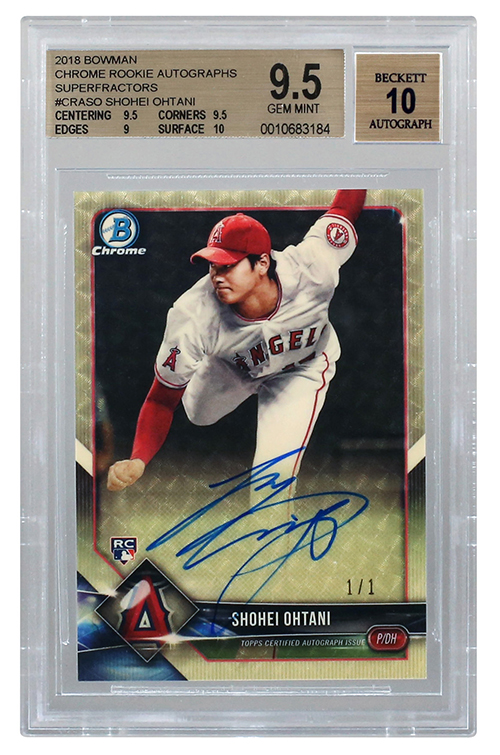 2018 Bowman Chrome Shohei Ohtani Superfractor Autograph Goodwin Sept-2018