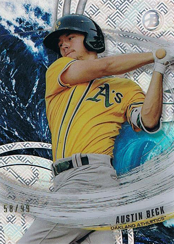 2018 Bowman High Tek Baseball Tides of Youth Austin Beck