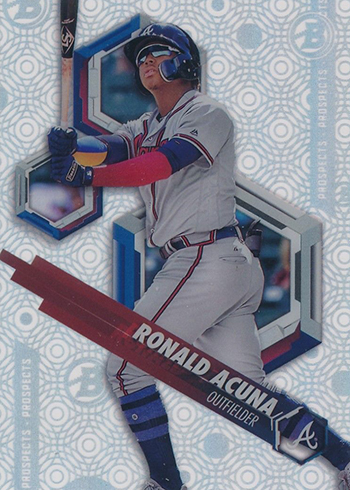 2018 Bowman High Tek Baseball Circles Ronald Acuna