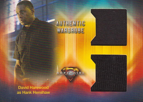2018 Cryptozoic Suergirl Season 1 Dual Wardrobe DM3 David Harewood as Hank Henshaw