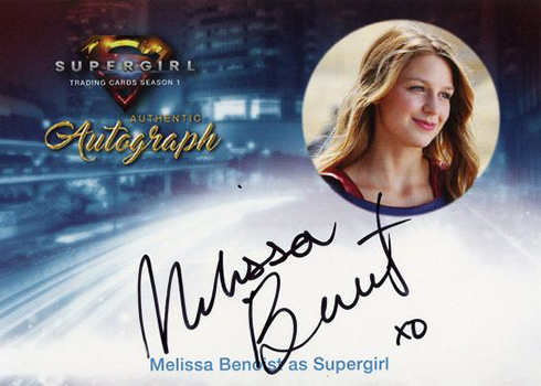 2018 Cryptozoic Supergirl Season 1 Autographs MB2 Melissa Benoist as Supergirl