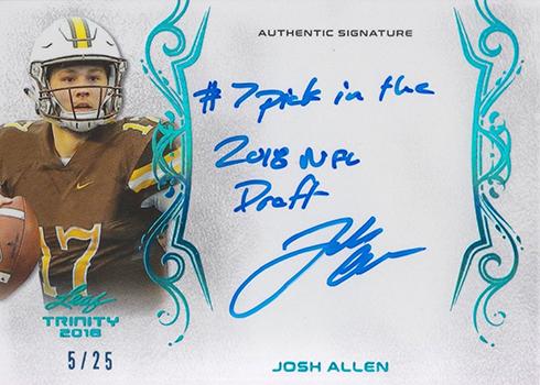 2018 Leaf Trinity Signatures Josh Allen 25