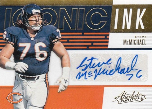 2018 Panini Absolute Football Iconic Ink Steve McMichael