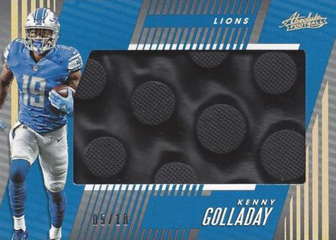 2018 Panini Absolute Football Jumbo Cleats Kenny Golladay