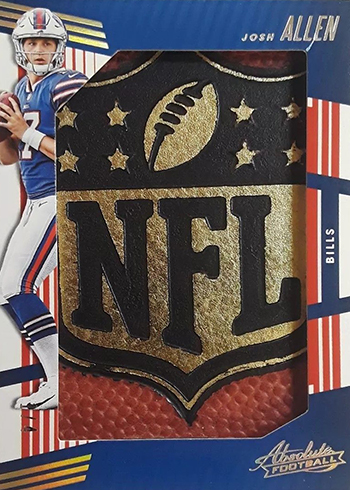 2018 Panini Absolute Football Jumbo NFL Shield Josh Allen