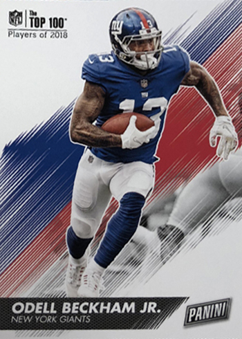 2018 Panini Day Kickoff Football Base Odell Beckham Jr