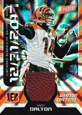 2018 Panini Day Kickoff Football Game Dated Memorabilia Andy Dalton