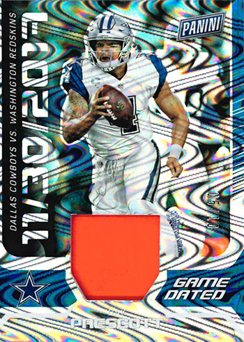 2018 Panini Day Kickoff Football Game Dated Memorabilia Dak Prescott
