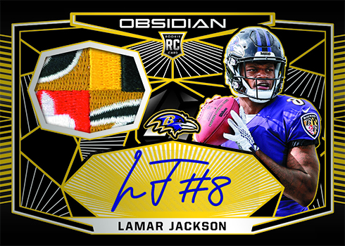 2018 Panini Obsidian Football Rookie Jersey Autographs Electric Yellow