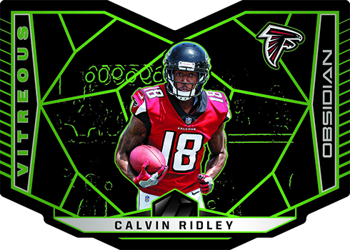 2018 Panini Obsidian Football Vitreous Electric Etch Green