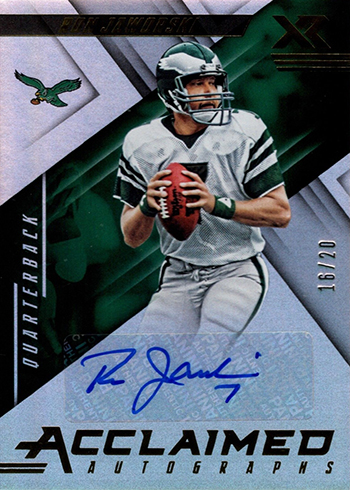 2018 Panini Xr Football Acclaimed Autographs Ron Jaworski