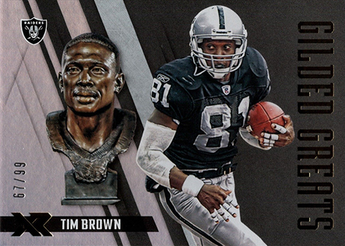 2018 Panini Xr Football Gilded Greats Tim Brown