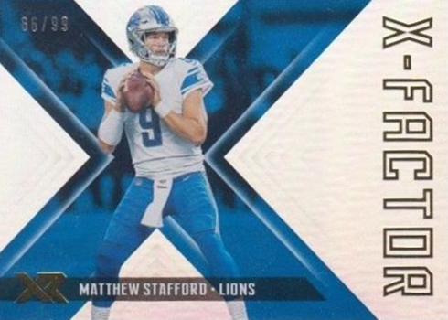 2018 Panini Xr Football X-Factor Matthew Stafford