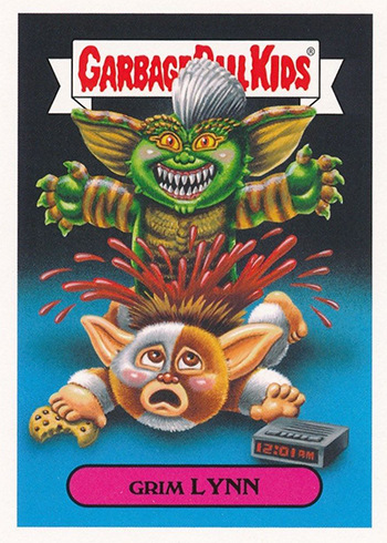 2018 Topps Garbage Pail Kids Oh the Horror-ible 80s Horror Grim Lynn